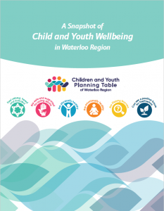 Snapshot of Child and Youth Wellbeing in Waterloo Region, Report Cover