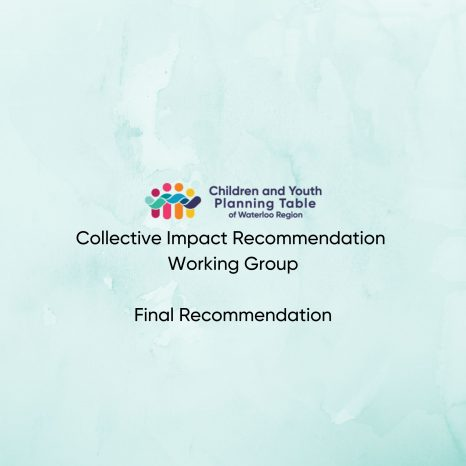 CYPT Collective Impact Recommendation Working Group Final Recommendations