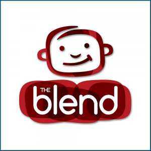 the blend media group logo