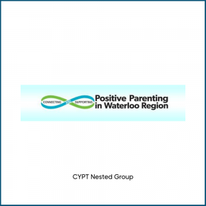 image of the positive parenting community committee logo, a cypt nested group