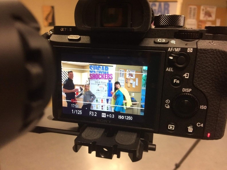 photo of video being created for healthy kids community challenge